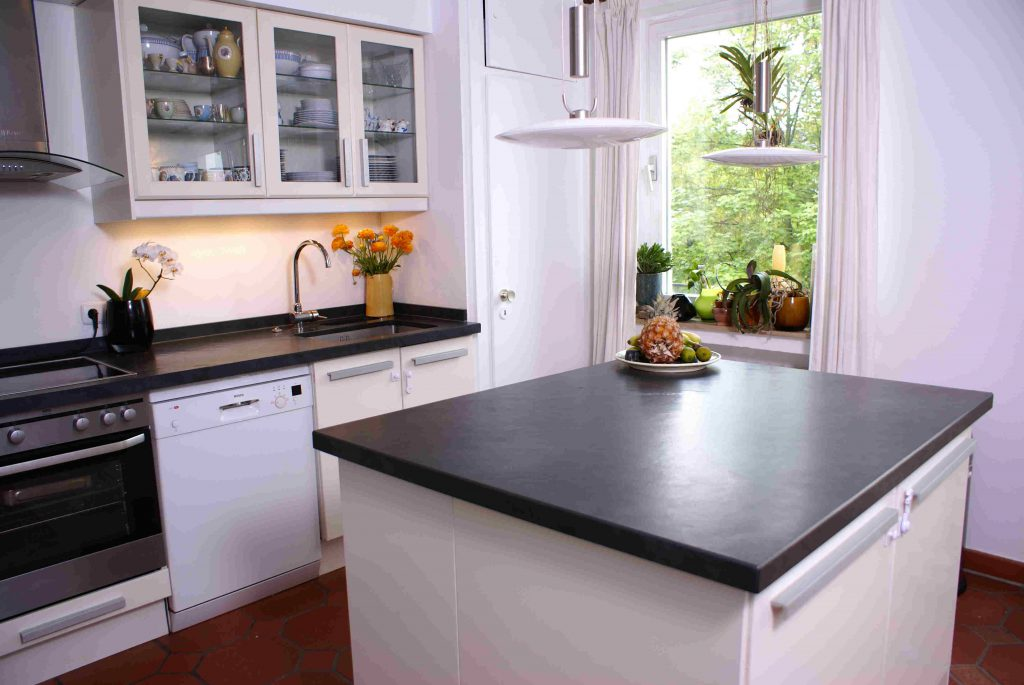 Mustang Schiefer - Arbeitsplatte Küche Ikea Faktum